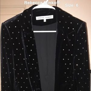 Rebecca Minkoff black blazer with crystals on it.
